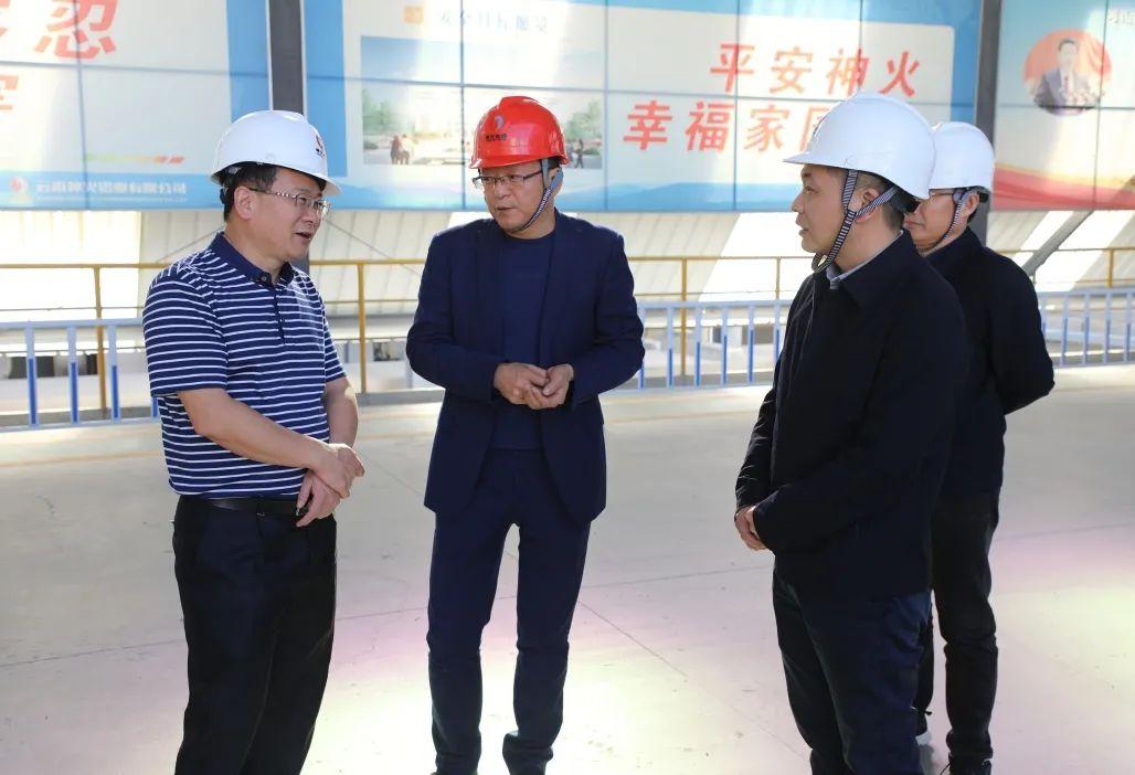 云南省发改委党组成员、副主任王建新到云南神火调研