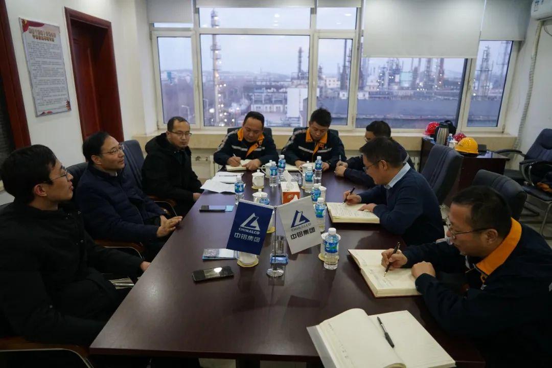 内蒙古锦联铝材副总经理曹稳一行到访抚顺铝业