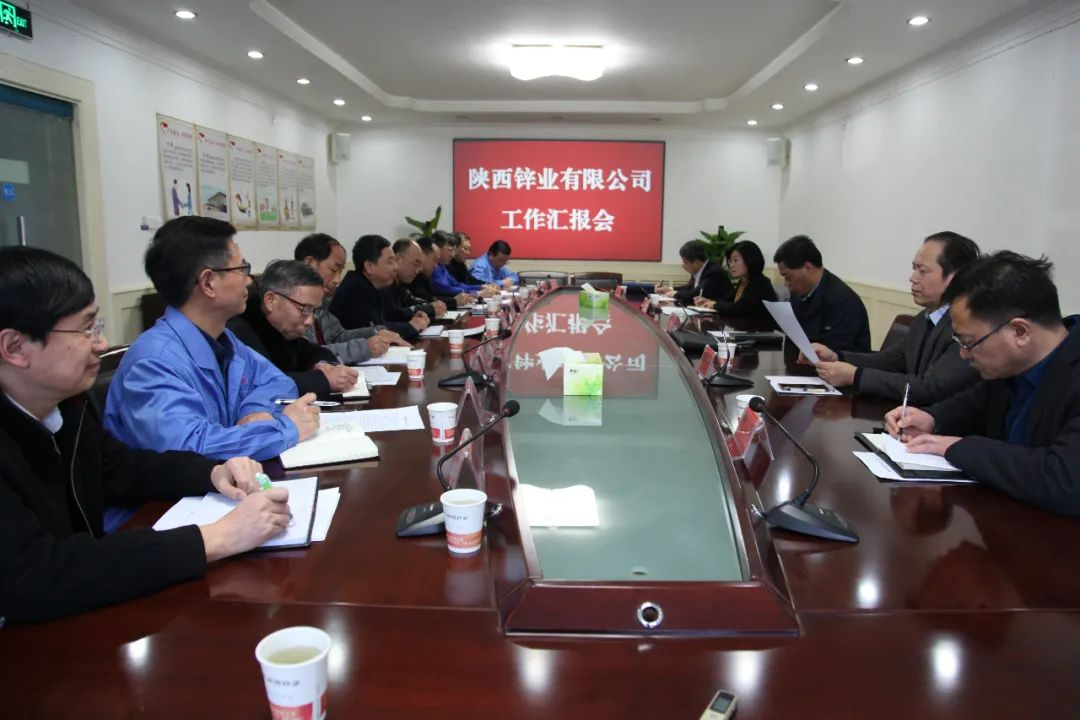 陕西有色董事长马宝平一行莅临陕西锌业公司调研指导工作