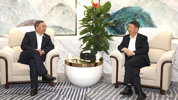 上市公司协会会长宋志平与紫金矿业陈景河董事长举行会见
