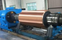 天成彩铝公司铸轧铜辊套应用研究取得阶段性进展