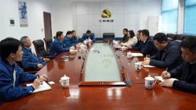 赣能股份党委书记、董事长陈万波一行到江铜访铅锌公司