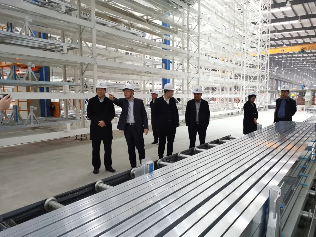 中國有色金屬加工工業協會副理事長章吉林一行調研萬邦德·棟梁鋁業