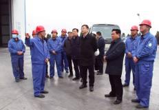 甘肃省副省长程晓波一行到东兴铝业陇西分公司调研