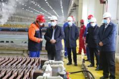 昌吉州政协主席李铁明一行到五鑫铜业参观调研