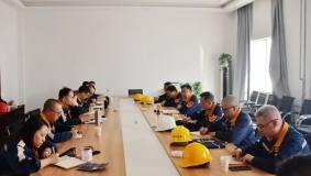 贵州铝厂陈刚、杨孟刚一行到合金化事业部调研指导工作