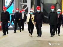 兵团政委王君正一行到南疆碳素参观考察