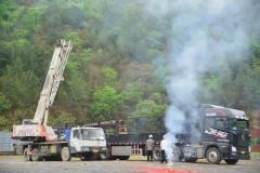 隆林铝业项目桩基础旋挖机进场复工