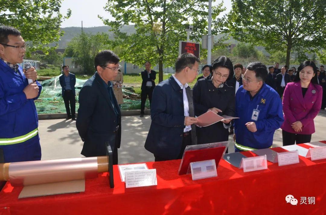 灵宝市第一季度重点项目观摩团到朝辉铜业观摩指导二期项目