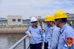 贵州铝厂执行董事陈刚到赤泥堆场渗滤液处置系统提标升级项目调研