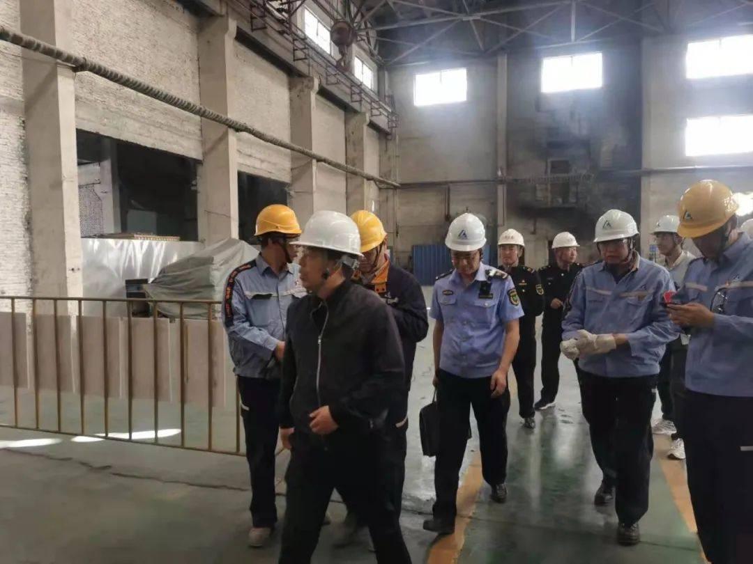西宁市应急管理局执法支队队长张文到中铝青海分公司检查指导工作