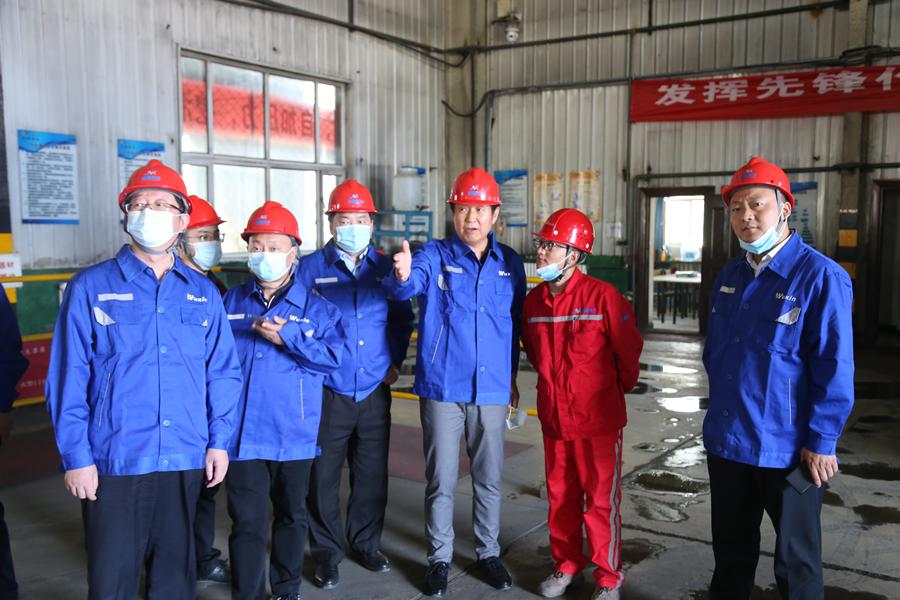矿冶科技集团到五鑫铜业调研指导工作
