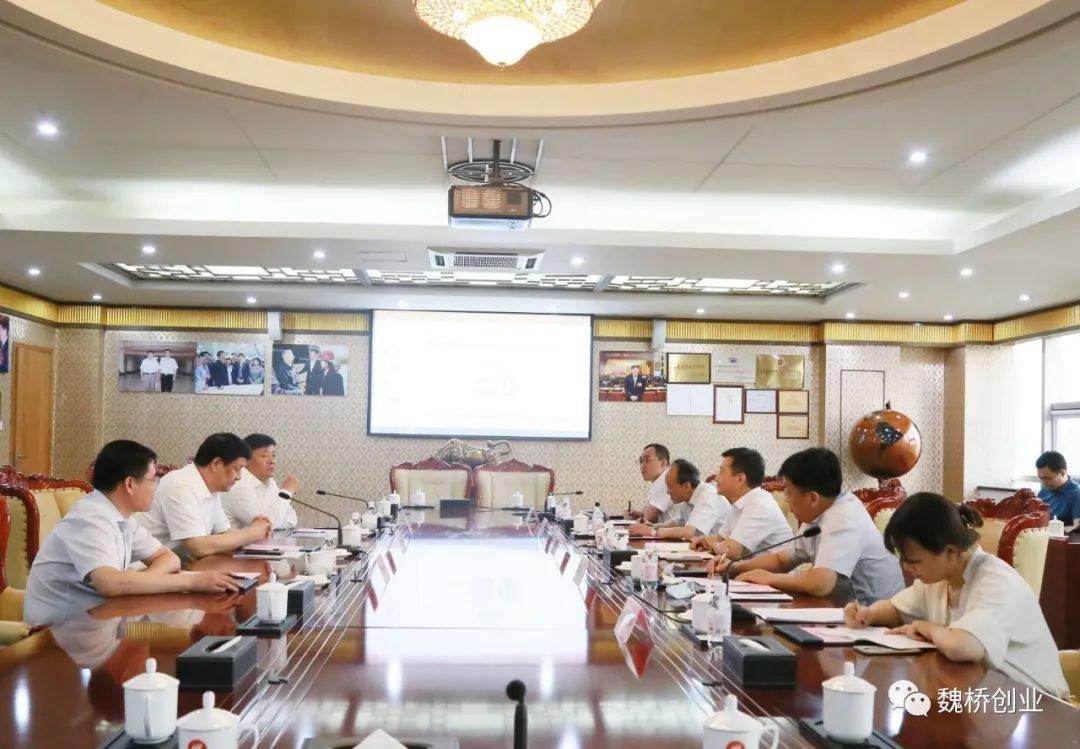 中国土木工程集团总经理陈思昌一行来魏桥创业集团参观交流
