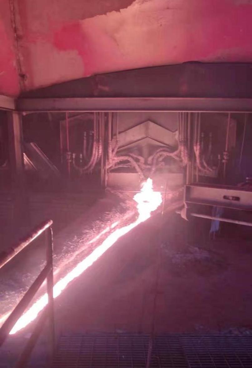 永青集团纬达贝园区23#电炉顺利出铁