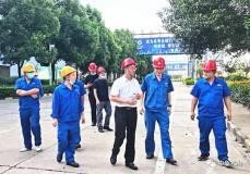 中色大冶公司领导到冶炼厂调研铜阳极泥处理系统升级改造工作