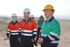 金川集团总经理李尚勇前往三矿区石英石采场安全检查