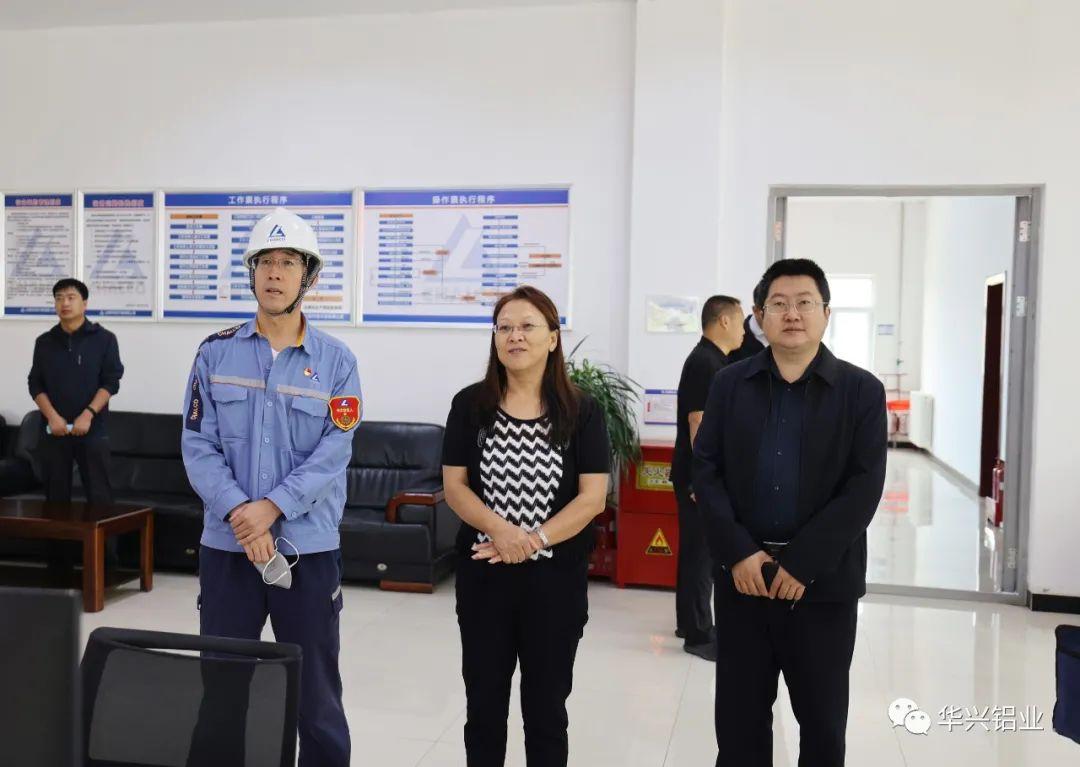 呂樑市委宣傳部副部長郭月秀到山西中潤調研
