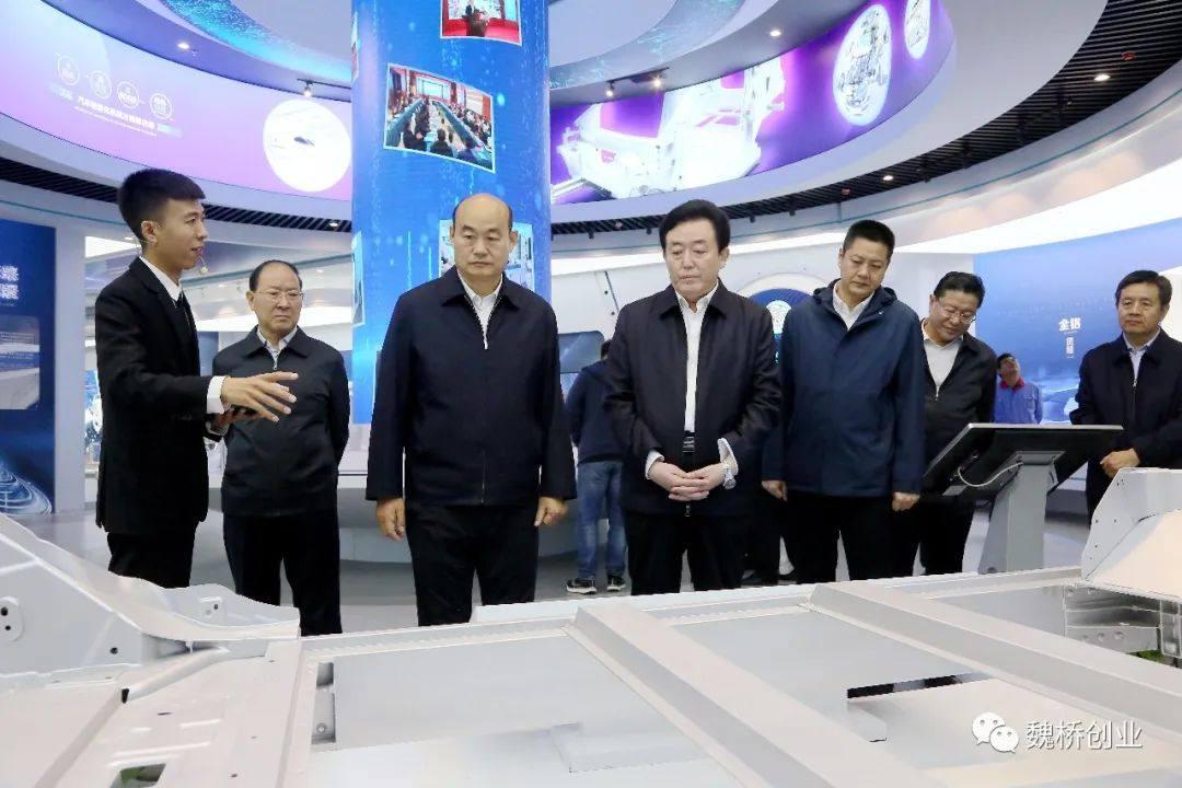 青岛市人大副主任张大勇到魏桥轻量化基地参观考察