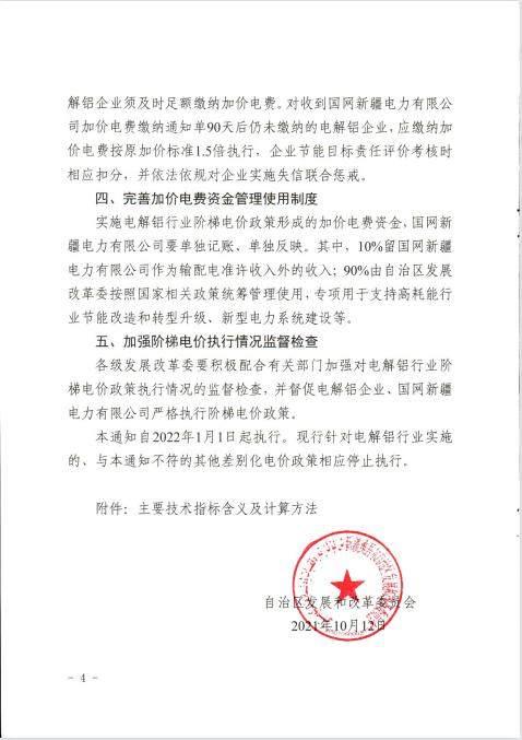 新疆:严禁对电解铝行业实施优惠电价