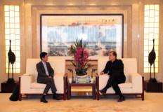 中国有色集团奚正平董事长会见厦门钨业董事长黄长庚