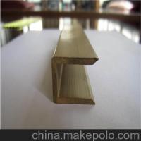 家具用黄铜异型材 工字型黄铜排h59 深圳铜型材报价