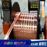 長期銷售 中山扁紅銅線 T2無氧銅扁線 可非標定制