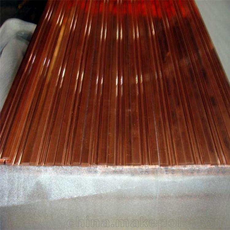 供應異型材加工 專業加工 生產紫銅排4*50mm 規格齊全