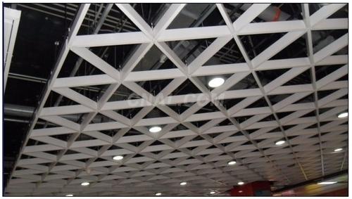 铝板天花价格_木纹三角形铝格栅吊顶天花价格 - 铝云汇