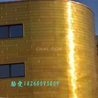 金色墙面板 铝镁锰平锁扣幕墙板