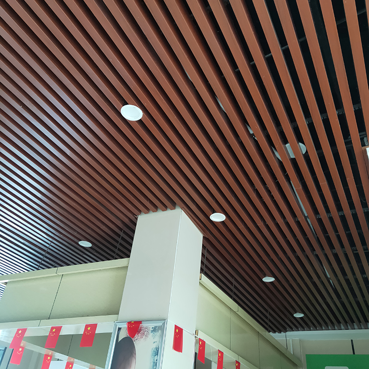 服务区铝格栅吊顶 木纹铝格栅