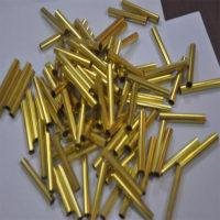 环保H65精密黄铜管切割抛光