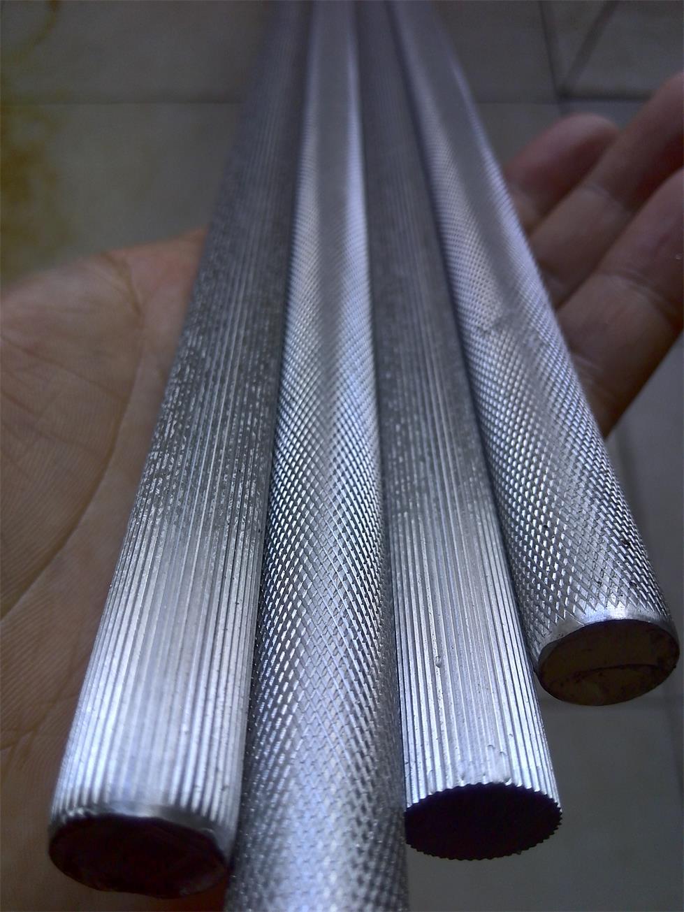 安徽网纹拉花铝棒直纹滚花合金铝棒