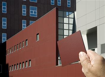 进口千思板在外墙建筑的应用设计