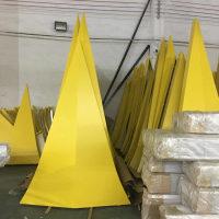 黄色铝单板锥形铝单板厂家供应