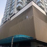 售楼中心铝方通外墙仿木纹铝方通