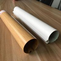 凹槽铝圆管吊顶50木纹铝圆管天花