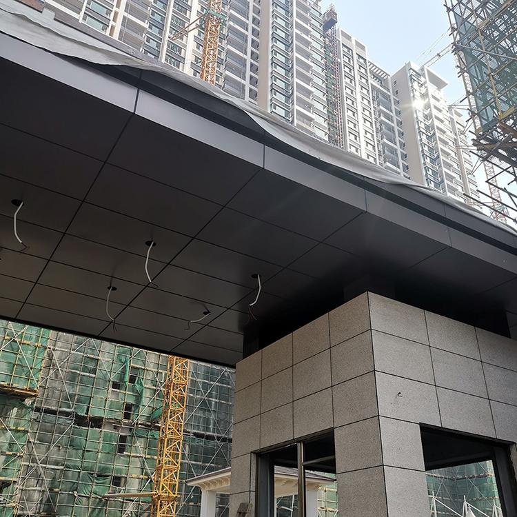 小区保安亭铝单板定制咖啡色铝单板