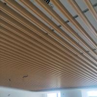 底口凹槽铝格栅木纹铝方通厂家定制