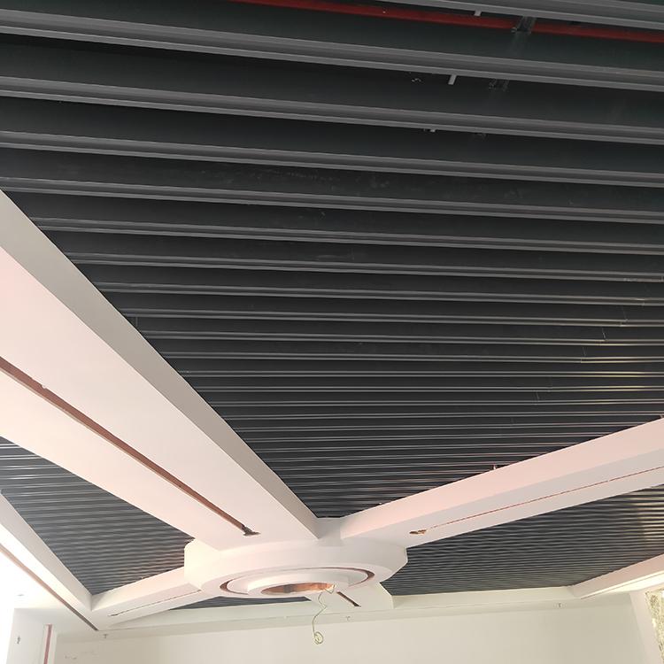 灰色铝格栅凹槽铝格栅广东工厂批发