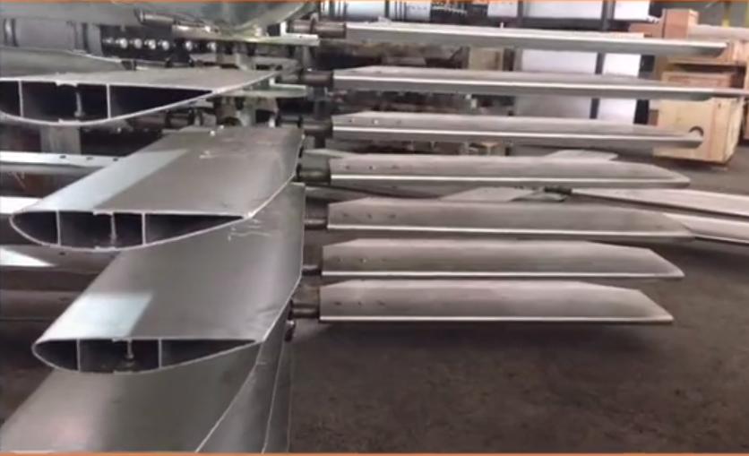 通风设备中空铝合金风叶型材厂家